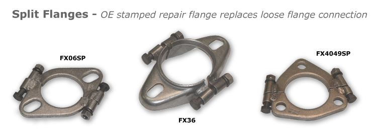 Exhaust split flange repair clamp bing images